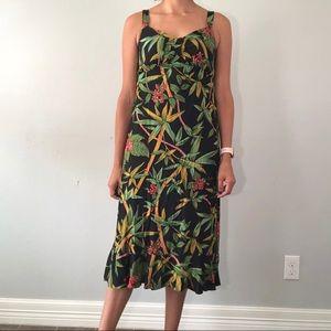 Late 80's tropical print dress